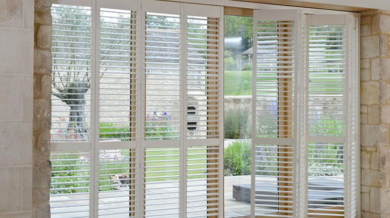 Installation of Patio Door Shutters Essex by A Touch Of Class