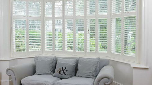 Installation of Bay Window Shutters Essex by A Touch Of Class
